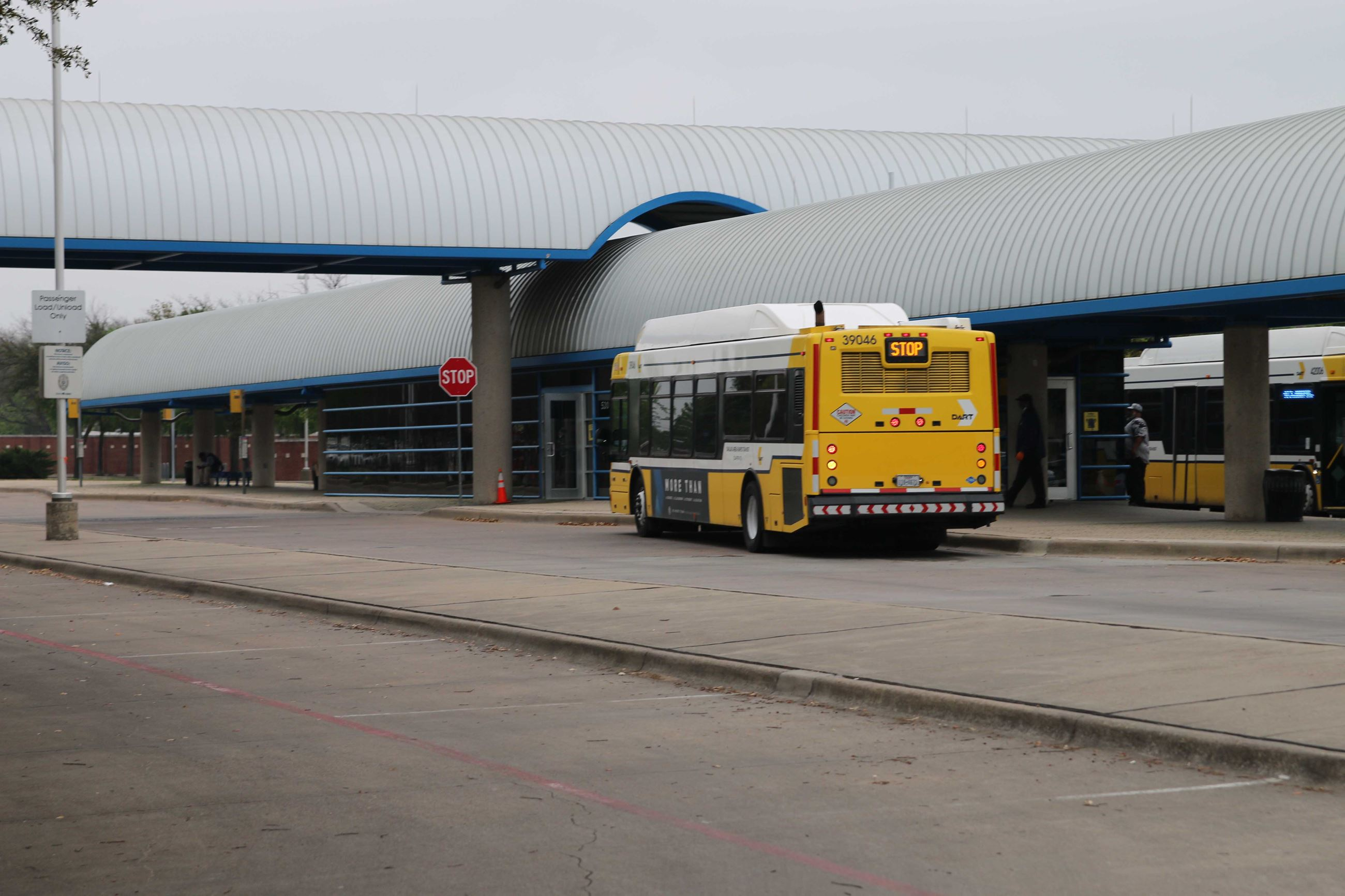 The Central Transit Station is a Dallas Area Rapid Transit hub in Downtown Garland.